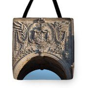 Coat Of Arms Of Portugal On Rua Augusta Arch In Lisbon Tote Bag