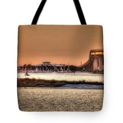 Cobalt And Bridge Tote Bag by Michael Thomas