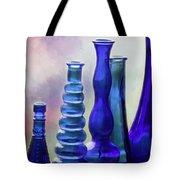 Cobalt Blue Bottles Tote Bag