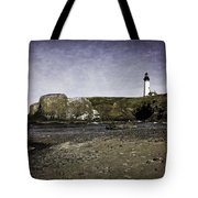 Cobble Beach At Yaquina Lighthouse Tote Bag