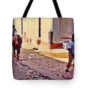 Cobble Stone Streets Of Cuba Tote Bag