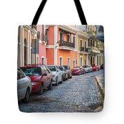 Cobblestone Streets Of San Juan Puerto Rico Tote Bag