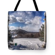 Cobbs Hill Park In Winter Tote Bag