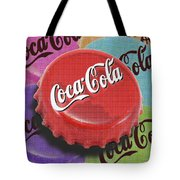 Coca-cola Cap Tote Bag by Tony Rubino