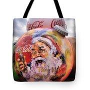 Coca Cola Christmas Bulbs Tote Bag