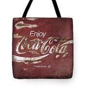 Coca Cola Faded Sign Tote Bag