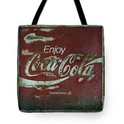 Coca Cola Green Grunge Sign Tote Bag