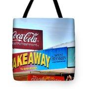 Coca-cola - Old Shop Signage Tote Bag by Kaye Menner