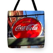 Coca Cola Sign In Georgia Tote Bag