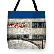 Coca Cola Sign On Old Factory Tote Bag