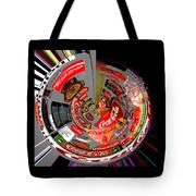 Coca Cola Signs In The Round Posterized Tote Bag