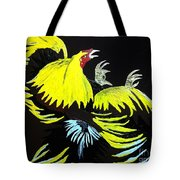 Cock Fight Or Flight Tote Bag