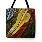 Cockatoo In Abstract Tote Bag