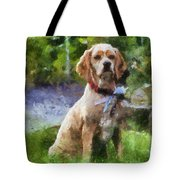 Cocker Spaniel Outside 04 Tote Bag