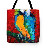 Coco The Talkative Parrot Tote Bag