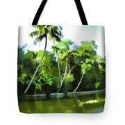 Coconut Trees And Other Plants In A Creek Tote Bag