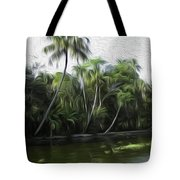 Coconut Trees And Other Plants Lined Up Tote Bag
