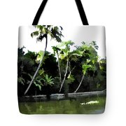 Coconut Trees And Others Plants In A Creek Tote Bag