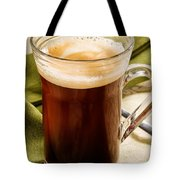 Coffe In Tall Glass On Green Tote Bag