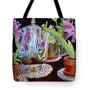 Coffee And Flowers Tote Bag
