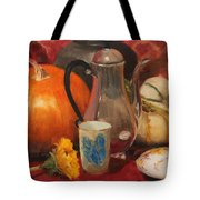 Coffee And Pumpkin Pie Tote Bag