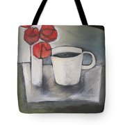 Coffee And Roses Tote Bag