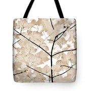 Coffee Brown Leaves Melody Tote Bag
