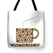 Coffee Cup Tote Bag by Aged Pixel