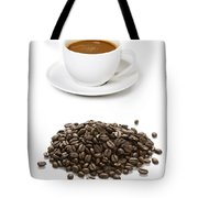 Coffee Cups And Coffee Beans Tote Bag