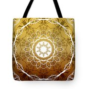 Coffee Flowers 1 Ornate Medallion Calypso Tote Bag