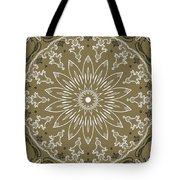 Coffee Flowers 11 Olive Ornate Medallion Tote Bag