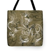 Coffee Flowers 2 Olive Tote Bag