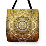 Coffee Flowers 2 Ornate Medallion Calypso Tote Bag