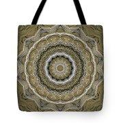 Coffee Flowers 2 Ornate Medallion Olive Tote Bag