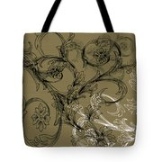 Coffee Flowers 3 Olive Tote Bag