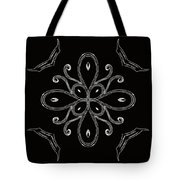 Coffee Flowers 4 Bw Ornate Medallion Tote Bag