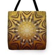 Coffee Flowers 4 Calypso Ornate Medallion Tote Bag