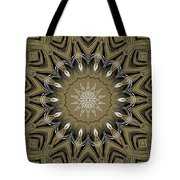 Coffee Flowers 4 Olive Ornate Medallion Tote Bag