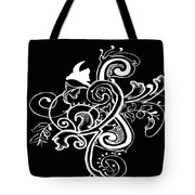 Coffee Flowers 5 Bw Tote Bag