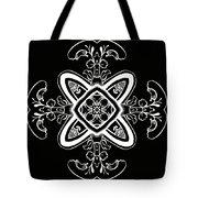 Coffee Flowers 5 Bw Ornate Medallion Tote Bag