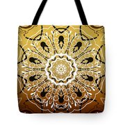 Coffee Flowers 5 Calypso Ornate Medallion Tote Bag
