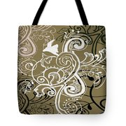 Coffee Flowers 5 Olive Tote Bag