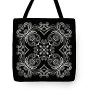 Coffee Flowers 6 Bw Ornate Medallion Tote Bag