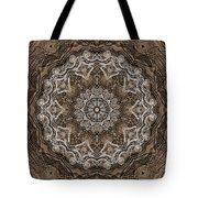 Coffee Flowers 6 Ornate Medallion Tote Bag