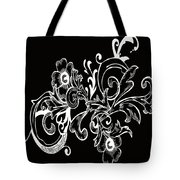 Coffee Flowers 7 Bw Tote Bag