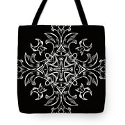 Coffee Flowers 7 Bw Ornate Medallion Tote Bag by Angelina Vick
