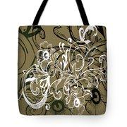 Coffee Flowers 7 Olive Tote Bag