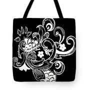 Coffee Flowers 8 Bw Tote Bag