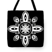 Coffee Flowers 8 Bw Ornate Medallion Tote Bag