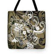 Coffee Flowers 8 Olive Tote Bag